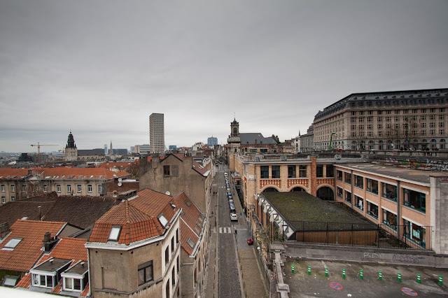 Panorama sul quartiere Marolles-Bruxelles