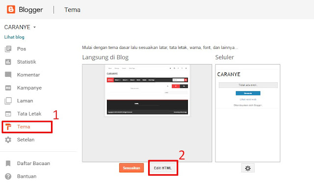 Cara nye Membuat Semua Link di Blogger Menjadi Otomatis Open New Tab