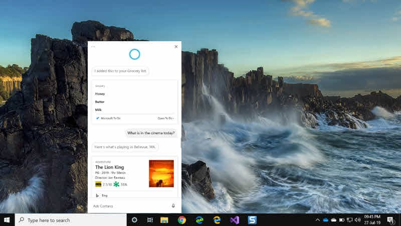 Microsoft starts testing new Cortana beta app with a new fresh look where you can type or speak to it