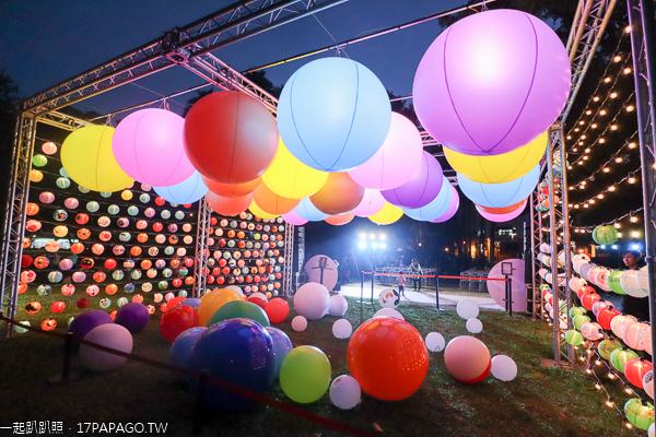 台中公園光影遊樂園10/31-11/10|大地彩燈|湖畔水燈|彩繪花燈牆