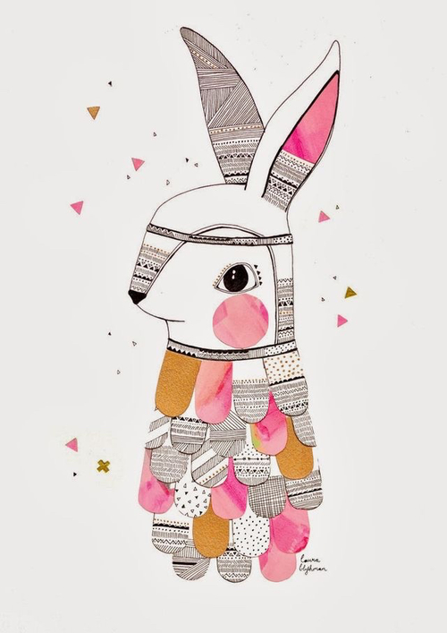 easter bunny art iphone wallpapers