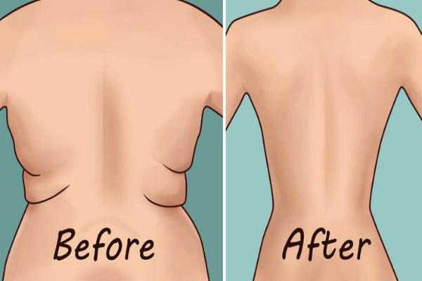 Eliminar la grasa dorsal y las axilas Flab con 4 ejercicios rápidos