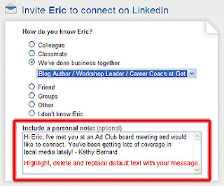 LinkedIn invitation to connect, inviting someone to connect on LinkedIn, changing LinkedIn default invitation message,
