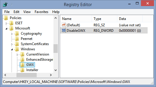editing windows registry