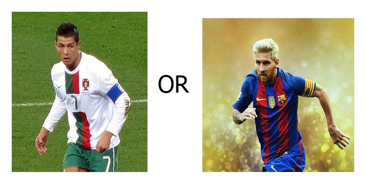 Pilih Mana, Cristiano Ronaldo atau Lionel Messi ?