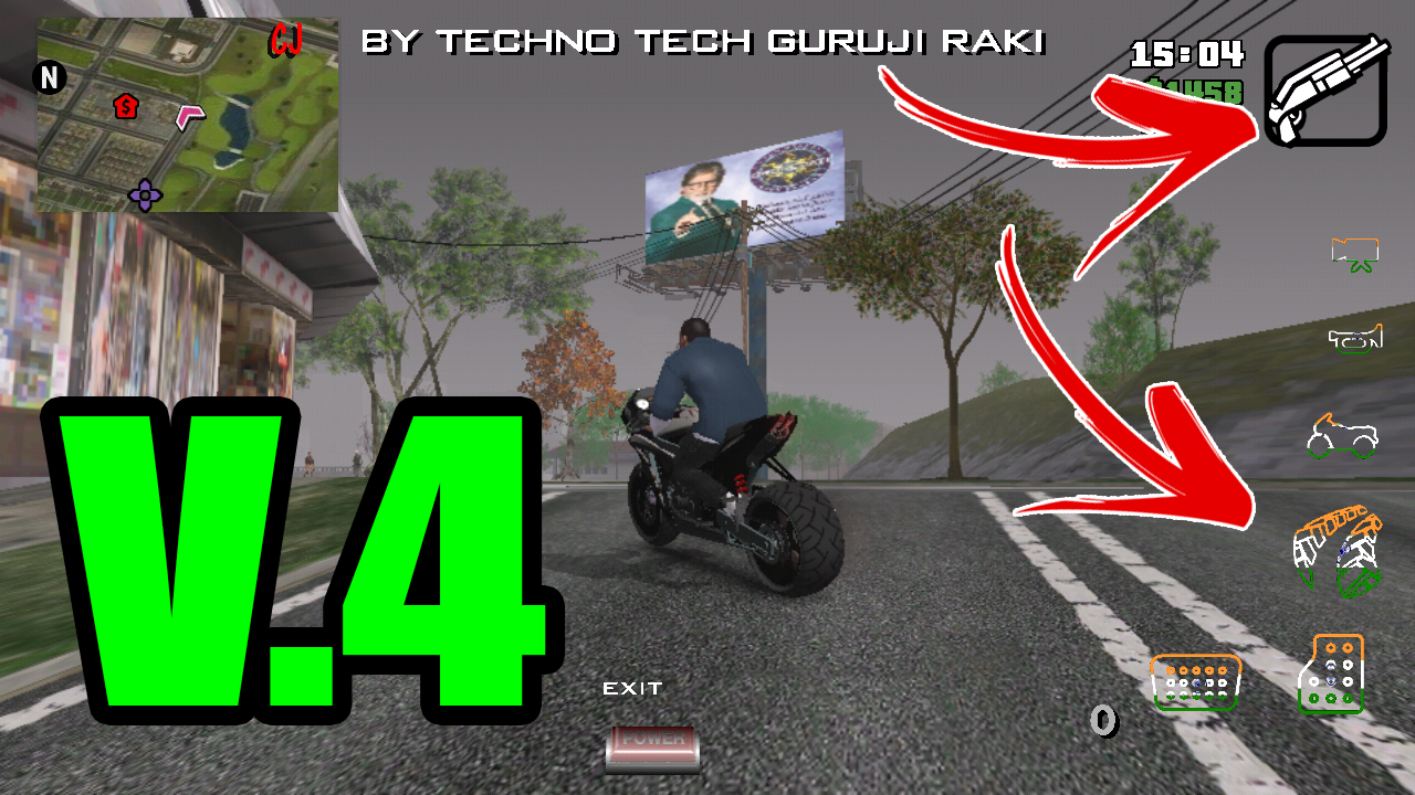 GTA INDIA v 4 MODPACK FOR GTA SA ON ANDROID ONLY 380 MB ALL CPU