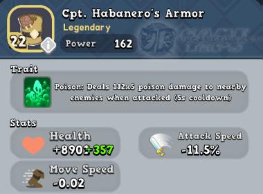 World of Legends Cpt. Habanero's Armor