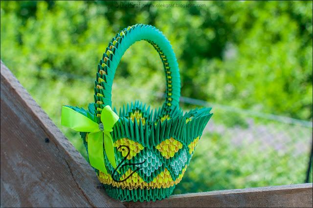 577. Koszyk z origami / 3d origami basket