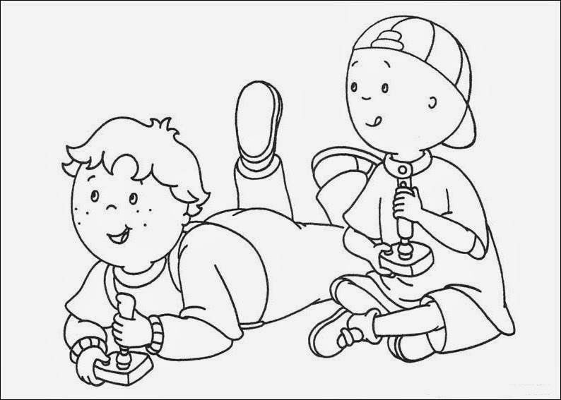 Fun Coloring Pages: Caillou Coloring Pages