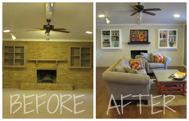 Pots pans paintbrushes the big living room reveal - Living room renovation before and after ...