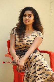 Telugu Actress Karunya Chowdary Stills in Short Dress at ATM Not Working Press Meet  0205.jpg