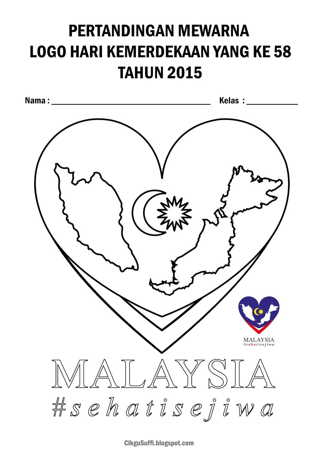 Mewarna Logo Negaraku Sehati Sejiwa Pewarna O