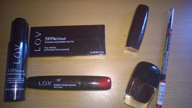 Verschiedene Produkte von L.O.V. Kosmetik.