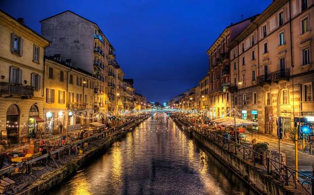 Bares em Navigli Milão