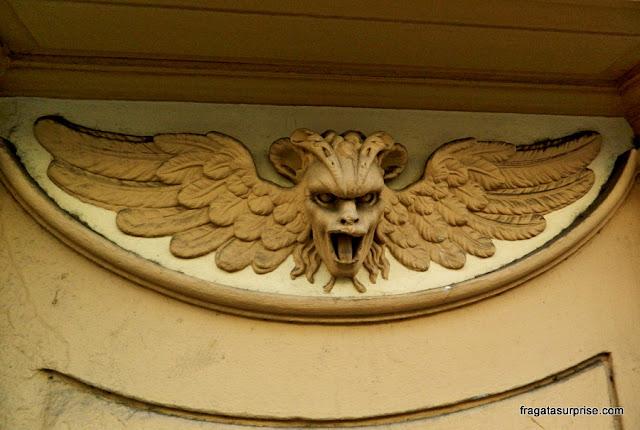 Detalhe de um edifício na Via Ricasoli, Forença