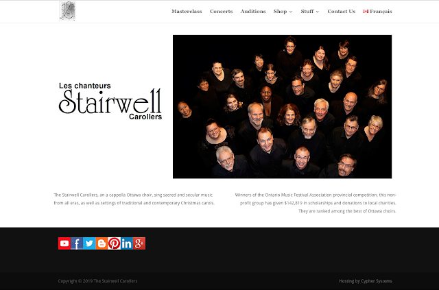 The Stairwell Carollers official website