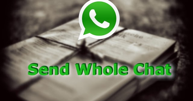 How to send WhatsApp chat to someone