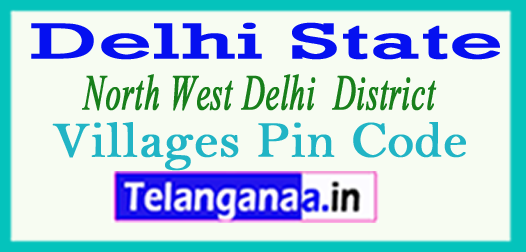 North West Delhi District Pin Codes in Delhi State