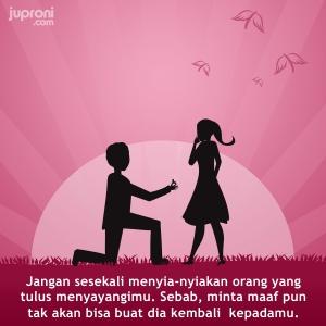 kata kata jangan menyia nyiakan orang yang tulus mencintaimu
