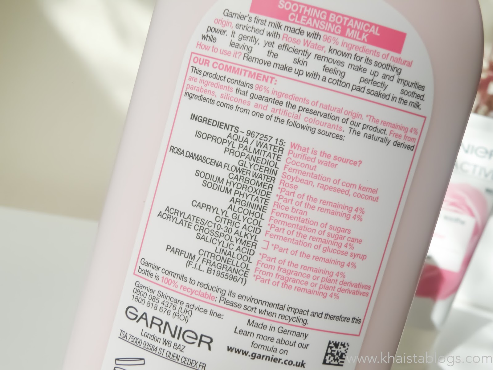 garnier skinactive rose water cleansing milk review