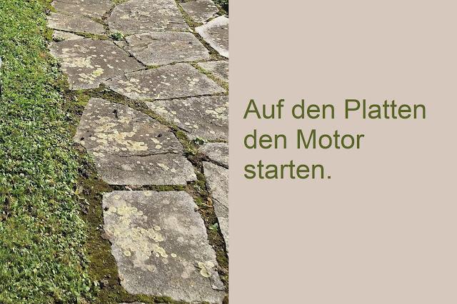 Granit Platten im Garten