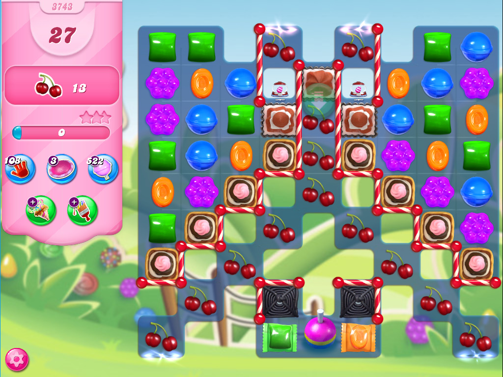 Candy Crush Saga level 3743