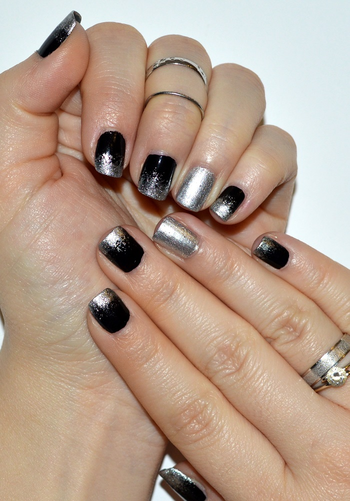 Style Sense Moments: Beauty | Black and silver ombre nails
