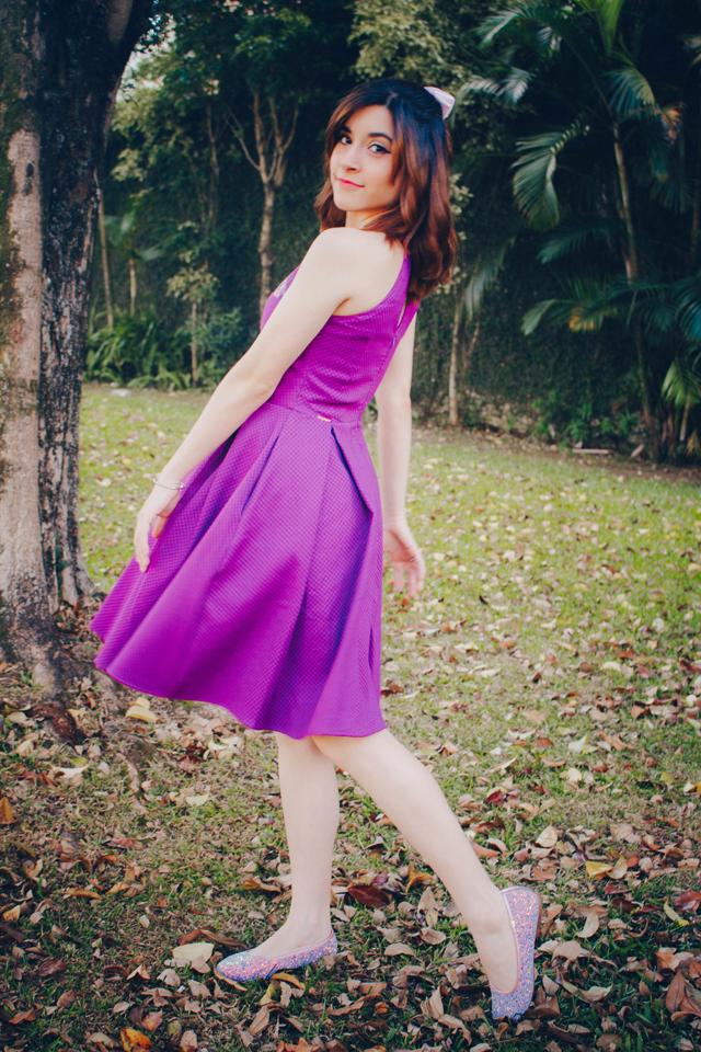 Vestido Flores de Monet ultra violet