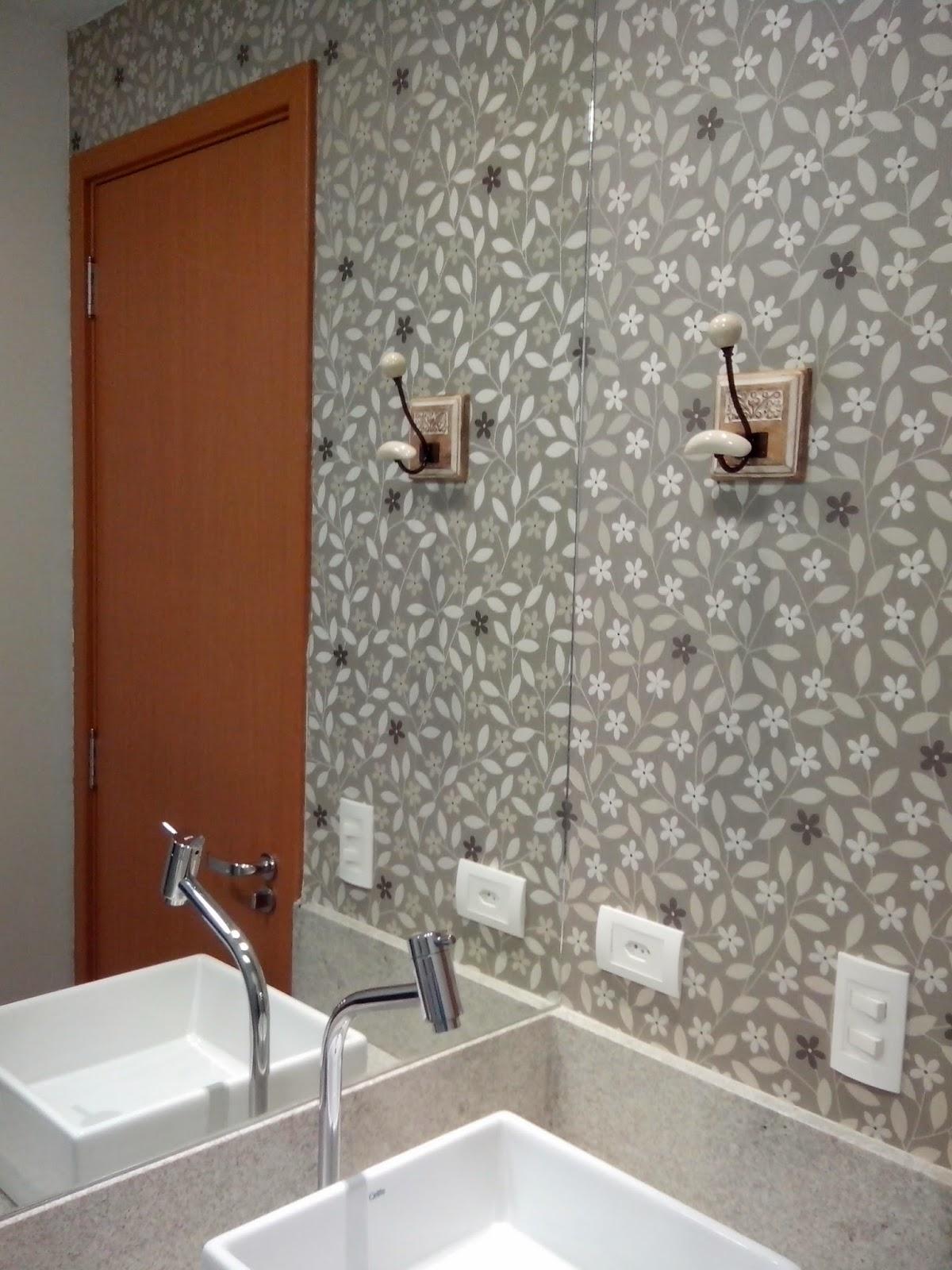 Reforma do meu ap papel de parede e espelhos - Papel decorado para paredes ...