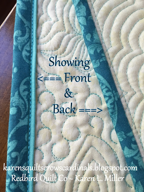 Karens Quilts Crows And Cardinals Tutorial Mitered And Flanged
