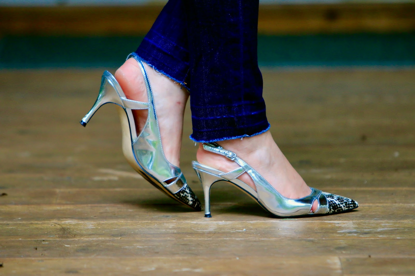 metallic ivanka trump heels