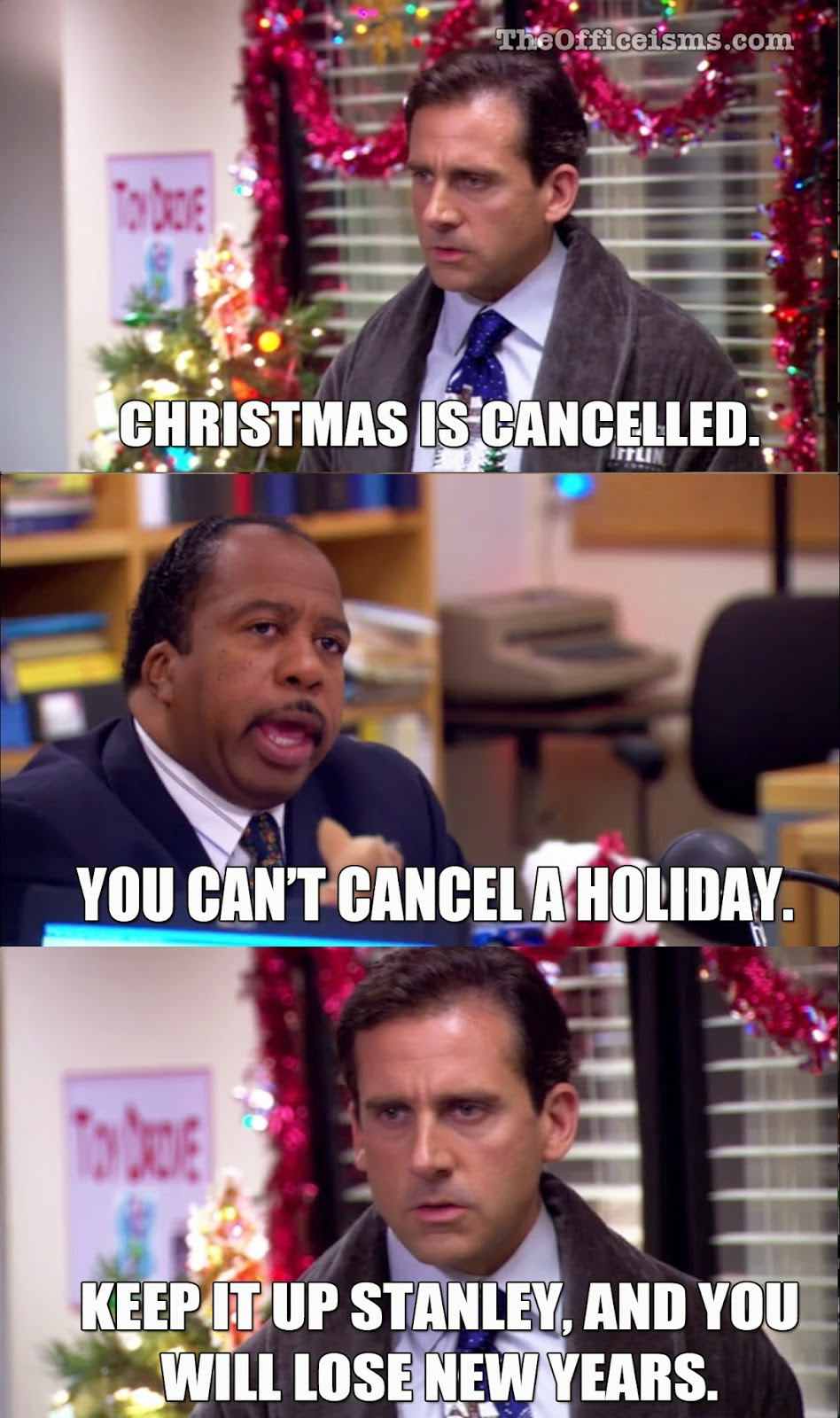 michael scott quote the office meme christmas is cancelled new years stanley - The Office Christmas Quotes