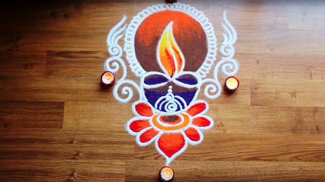 Easy Rangoli Designs No.4