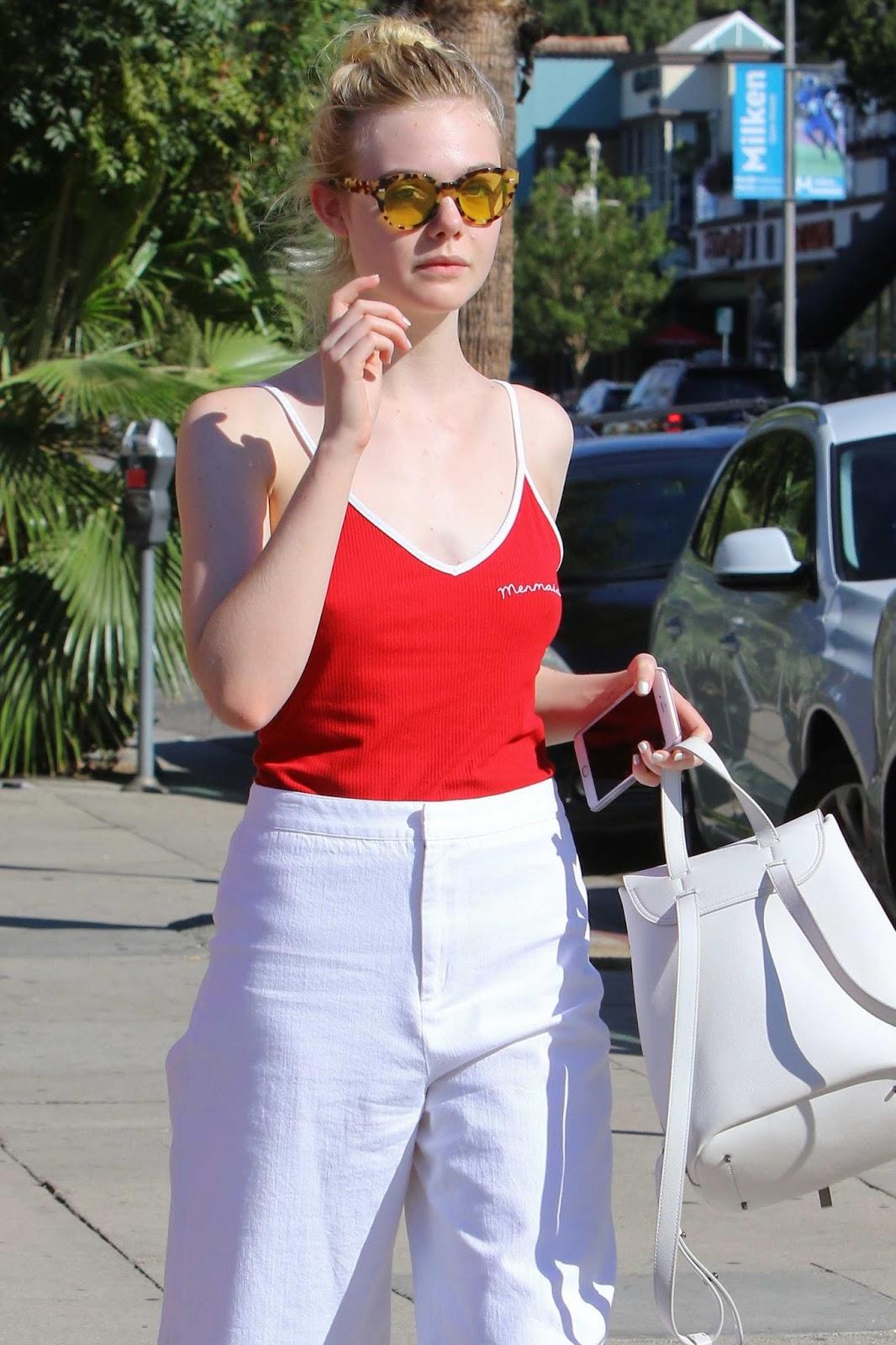 Elle Fanning Out in Studio City