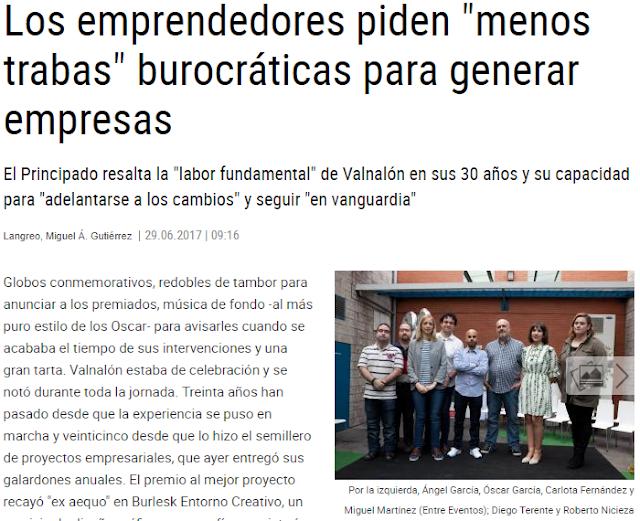 XVI Edición de los Premios Proyectos Valnalón (Artículos online)