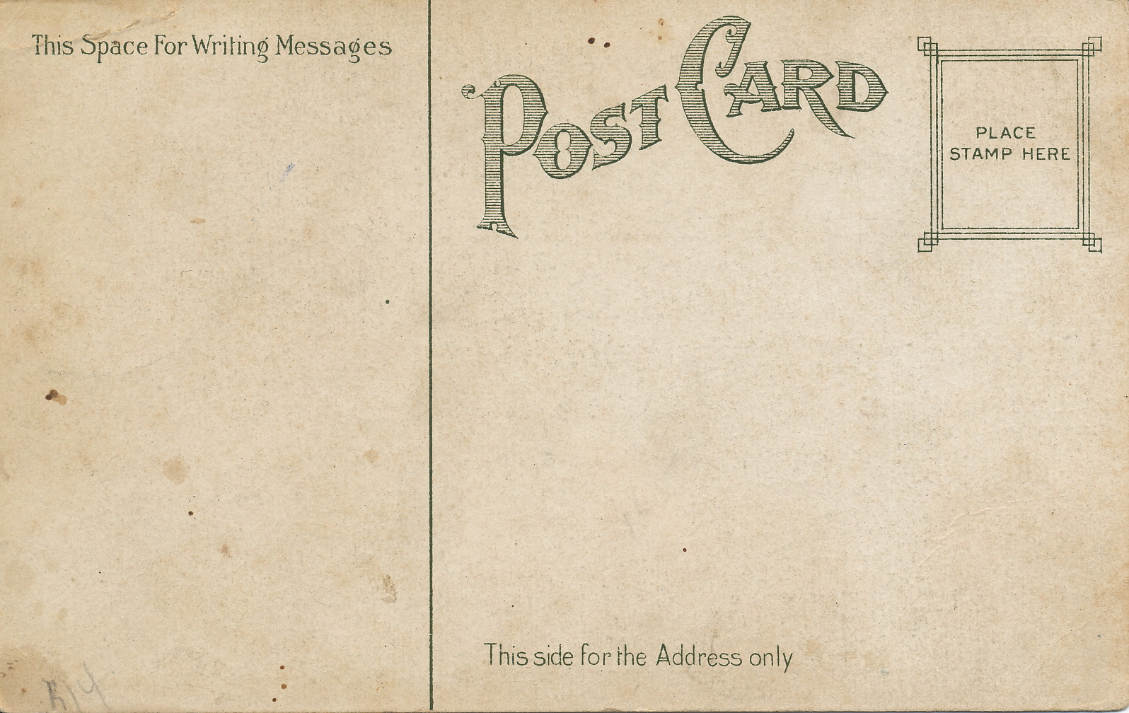 Vintage postcard template photoshop hot girls wallpaper for Back of postcard template photoshop