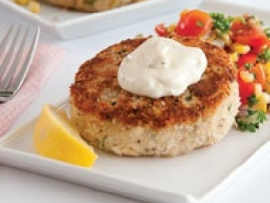 How to Make Dijon Tuna Cakes and Roasted Corn Relish with Easy Remoulade