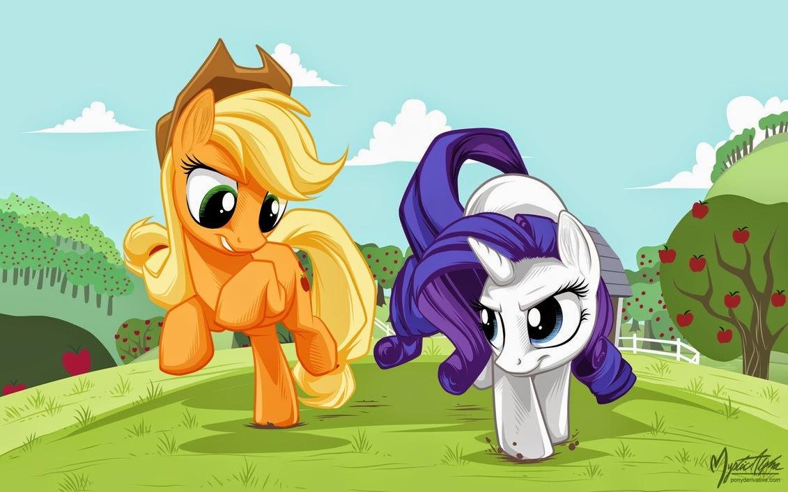 My Little Pony: Wallpaper de Rarity y Applejack
