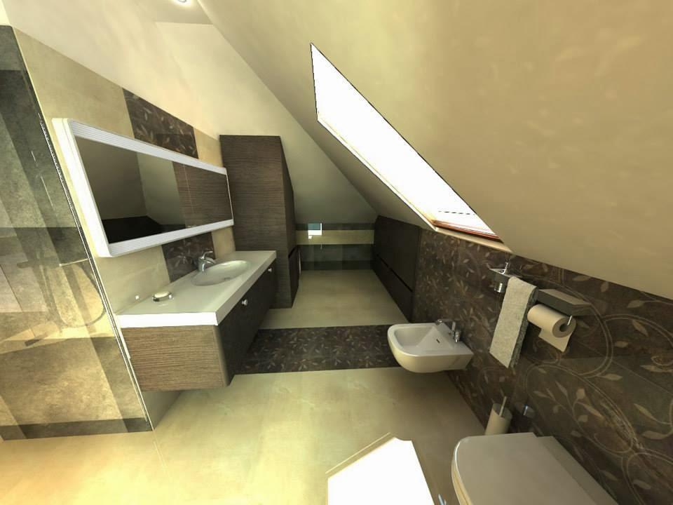 Pegaz Design Justyna Łuczak: Kilka łazienek -wizualizacje