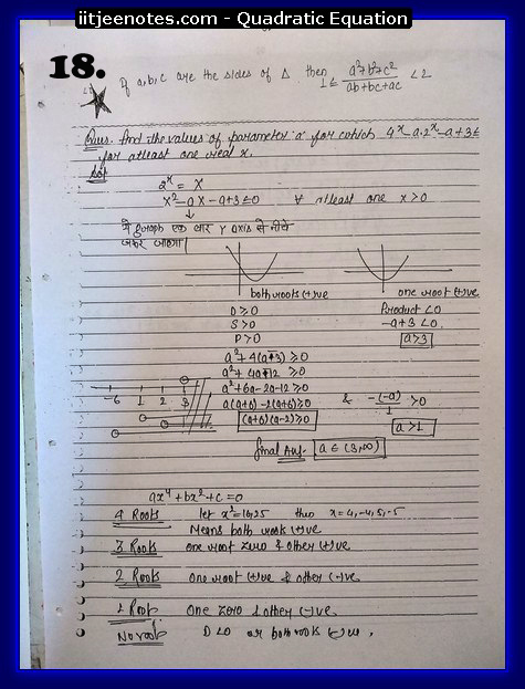 quadratic equation notes5