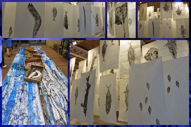 Fish Etchings Art Installation at Flors i Violes Festival in Palafrugell in Costa Brava, Spain