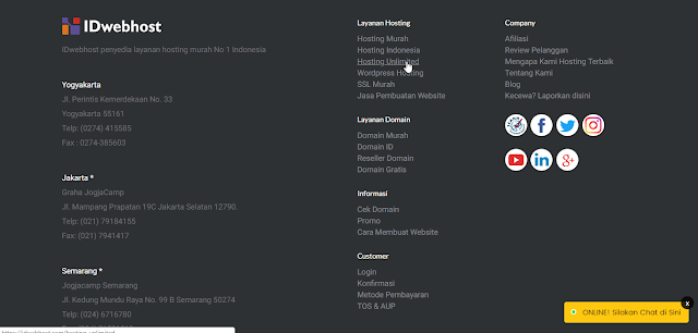 Cara Order Hosting Unlimited IDwebhost