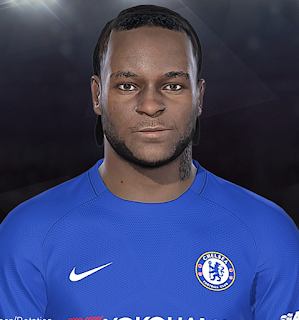 PES 2018 Face & Tattoo Victor Moses by Prince Hamiz