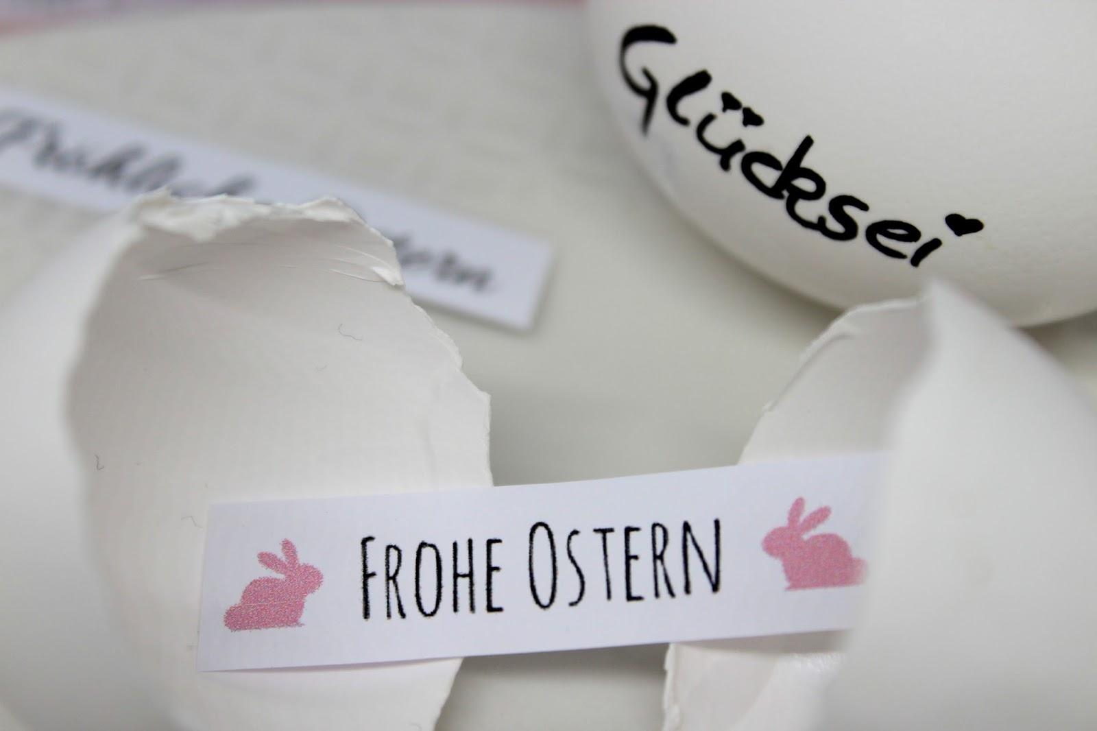 Geniale Geschenkidee für Ostern: DIY Glücksei mit individuellen Nachrichten ganz einfach selber machen + kostenlose Vorlage