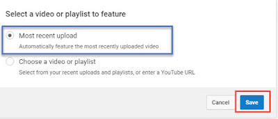 youtube channel features
