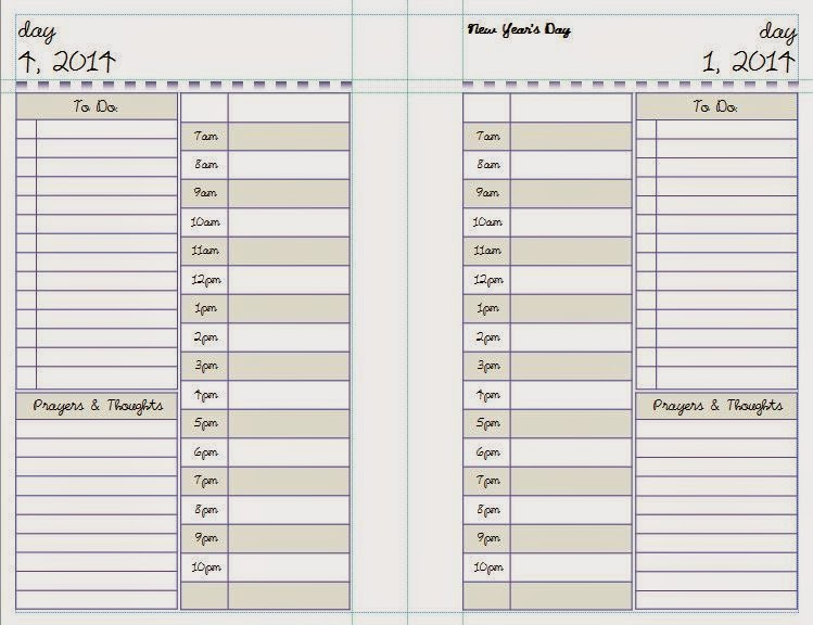 Yolieville Printable Daily Planner Pages Template