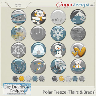 Creative Team, Annemarie, for GingerScraps -   One Of A Kind Templates, Dagi's Temp-Tations, and  Polar Freeze by Day Dreams