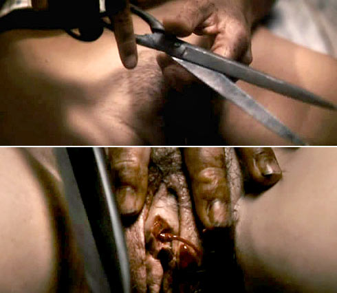 Clitoris mutilation scene film antichrist