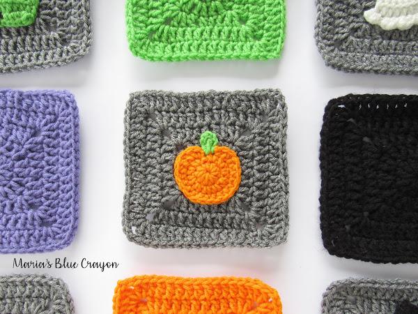 Halloween Pumpkin Granny Square - Free Crochet Pattern