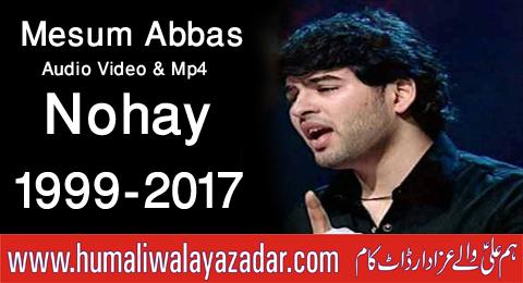 Nohay 2018 mesum abbas 2018 | ghazi ع ka sar | new noha 2018.